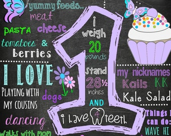 Butterfly & Flower Birthday Board!