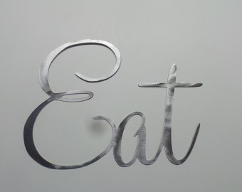 Eat   Metal Sign   Kitchen Wall Words E8