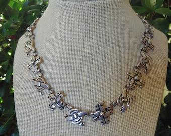 Maximiliano Mondragon ~ Heavy Vintage Taxco 980 Silver Necklace - c. 1940's