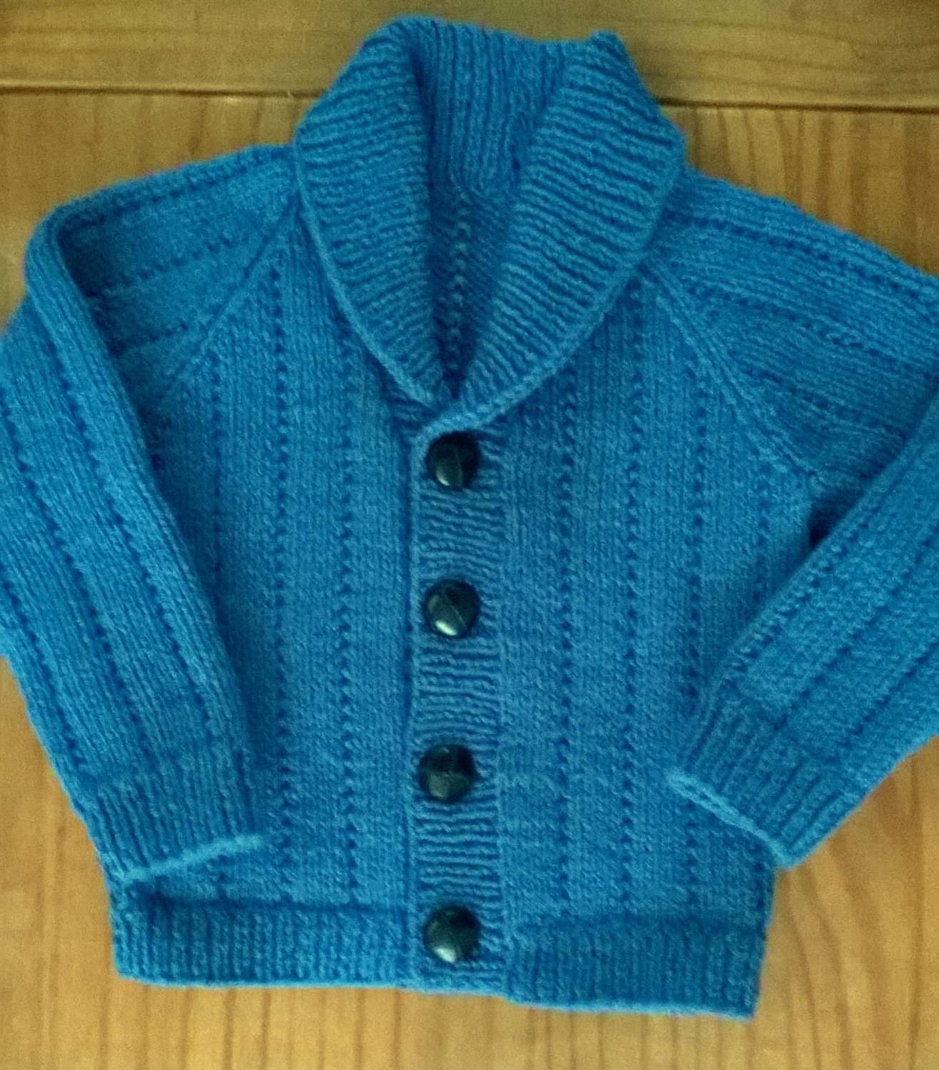 Baby Shawl Collar Knitting Pattern : Baby Boys Hand Knitted Shawl Collar Cardigan Blue 1-2 by 4tinytotz