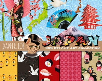 Welcome to Japan Clip Art and Digital Paper Collection