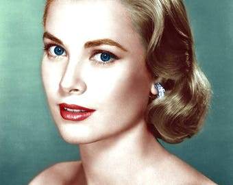 5x7 Grace Kelly Recolored Photograph