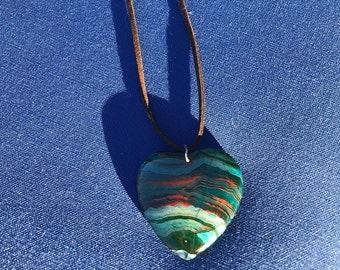 Agate Heart Adjustable Necklace