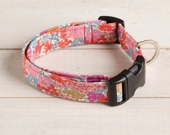 Beth Liberty fabric dog collar