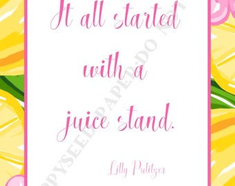 Lilly Pulitzer quotes, preppy, Quotes by Lilly Pulitzer, Digital Download