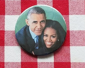 Barack & Michelle Obama button and magnets!