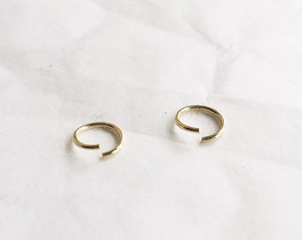 Very small gold cartilage hoops - Small gold helix hoop ring - Tiny gold hoops - Solid gold cartilage hoops