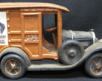 Cast Iron Mail Truck Die Cast Toy Truck US Army