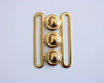 Fancy Designer Style Buckle Goldtone Buckle
