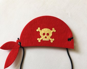 Pirate Party Favors, Pirate Bandana, Pirate Costume, Pirate Birthday Favors, Pirate Hat, Pirate Party