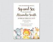 Safari Sip And See Invita...