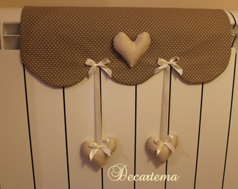 Cover radiator with Shabby Chic hearts