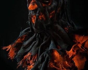 "Scarecrow mask, ""TRICK"" Halloween mask,"