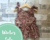 Paisley Print Sundress | Burgundy Red Dress | Baby Girl Patterned Dress | Paisley Printed Dress | Red Sundress