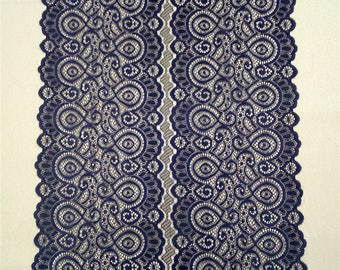 Perfect 14 Inches / 35.5cm Wide, Navy Table Runners , Navy Lace Runners For Wedding