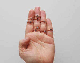 Rough Stacking Ring // Tanzanite Stacking Ring // Raw Tanzanite // December Birthstone // Boho Ring // Raw Crystal // Gemstone Jewelry