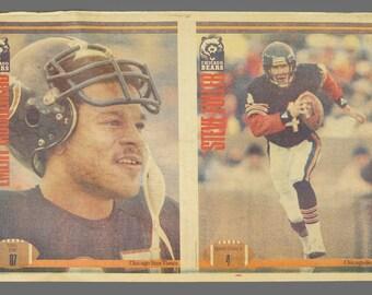 1985 Chicago Bears Sun-Times Poster Emery Moorehead Steve Fuller NFL Football