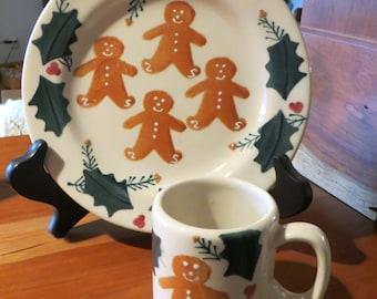Child's Gingerbread Plate & Mug Set