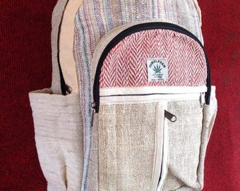 Pure Hemp Multicolor Bohemain Backpack