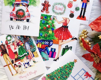 Christmas card set,Greeting cards,Christmas cards, Greeting cards set, Greeting cards blank, fashion greeting cards, Handmade greeting cards