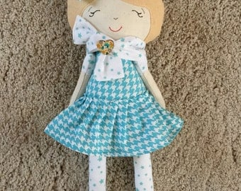 Cloth doll and felt-soft doll-Handmade doll
