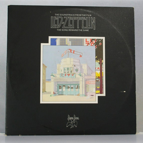 Led Zeppelin The Song Remains The Same Soundtrack 1976 Album Swan Song Records Original Vintage Vinyl