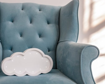 Cloud lamp Cloud light Cloud marquee Night light  Marquee light Baby room Baby shower Lamp Marquee cloud  Battery Operated Light