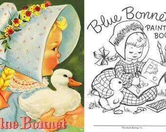 OFFER!! 5 little baby dolls Coloring books, 50's - 70's, flowers, animals, Instant Download, PDF format (RM101)
