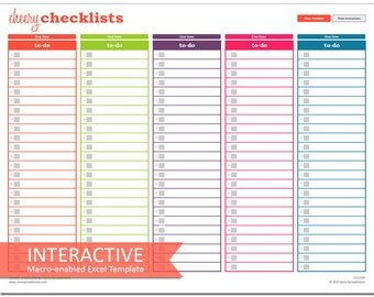 Cheery Checklists - Interactive Excel To-Do Lists