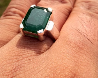 Natural Emerald Ring Dark Green