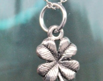 Four Leaf Clover Stainless Steel Necklace,Ireland,Celtic,St. Patrick's Day,Irish,4 Leaf Clover,Shamrock,Lucky Charm,Clover,1175