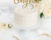 Complimenti torta Topper - Glitter Cake Topper - Congratulazioni - Party Decor - evento Decor - festa di laurea - festa di pensionamento