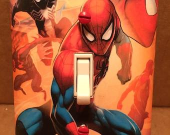 Spiderman Single Light Switch Cover - Handmade - Marvel Comics