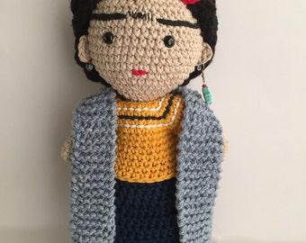 Frida, Frida Kahlo, Frida amigurumi, Frida doll, Doll, Frida Crochet