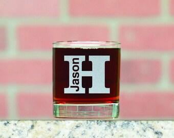 Personalized Whiskey Glasses. Custom Whiskey Glass. Custom Rocks Glass. 11 oz Whiskey Glass. Made in USA.