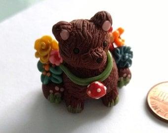 Flower Bear Totem