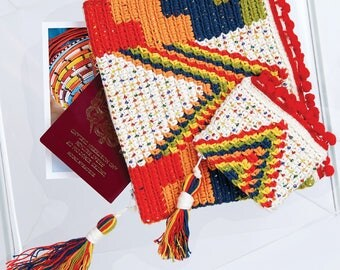 DMC (15443L/2) Wanderlust Clutch and Coin Purse Crochet Pattern - designed by Hannah Cross
