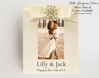Engagement Gift Picture Frame Gift to Couple Personalized Photo Frame Newly Engaged Gift Bridal Shower Gift for Fiance Engagement Ideas