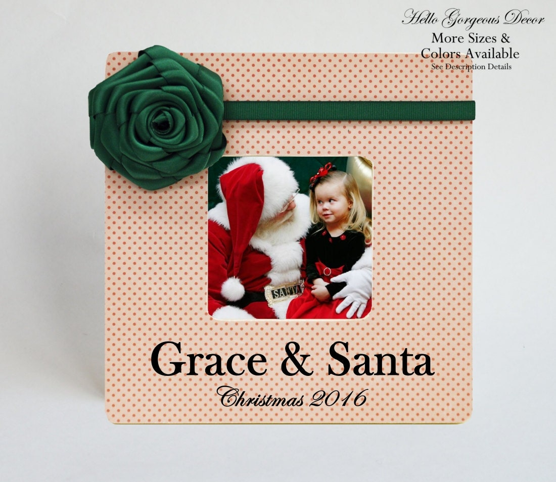 Baby Gifts For Hippie Parents : Baby christmas picture frame gift personalized santa