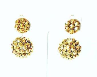 """Swarovski """"Top Notch"""" clip on earrings"""