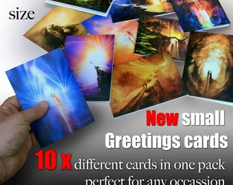Greetings cards A6 pack of Ten different cards
