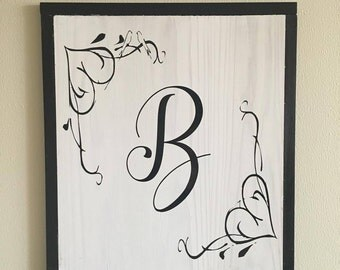 Monogram Wall Art monogram wall decor | etsy