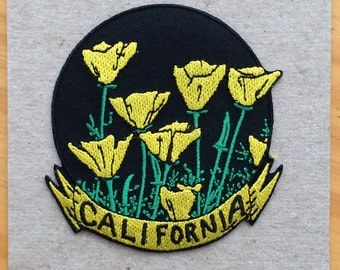 California Poppies Embroidered Patch