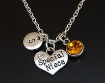 Special Niece Necklace, Niece Necklace, Niece Jewelry, Niece Pendant, Niece Charm, Gift for Niece, Niece Gift, Silver Niece Charm Jewelry