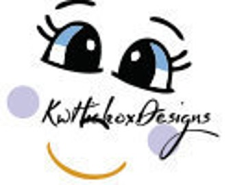 Svg File, Doll Face Svg, Cute Face Svg, Dxf For Silhouette