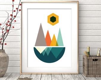 Wall Print, Geometric Art, Minimalist Art, Instant Download, Modern Wall Art, Affiche Scandinave, Prints, Wall Art Prints, Scandinavian Art