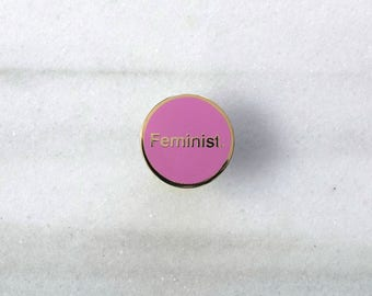 Feminist. - Enamel Pin, Lapel pin, Pins, Enamel Pins, Pin, Gold enamel pin, Hard enamel pin, Feminist pin, Feminist badge.