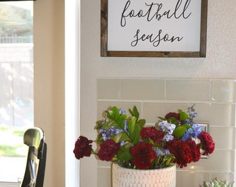 We Interrupt This Marriage To Bring You Football Season Framed Wood Sign