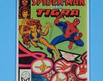 Marvel Team up #125 Spiderman & Tigra (Grade NM) 1980s Vintage Bronze Age Marvel Comic Book, marvel teamup,marvel team-up, B2