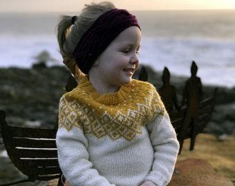 Kids Sweater, Kids wool sweater, Icelandic Sweater, Kids Fair Isle sweater, hand knit sweater, sweater for girls, Bohéme Sweater, girls gift
